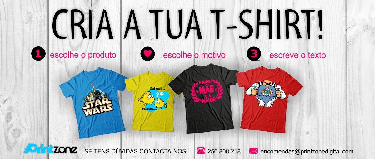 Cria a tua T-shirt!